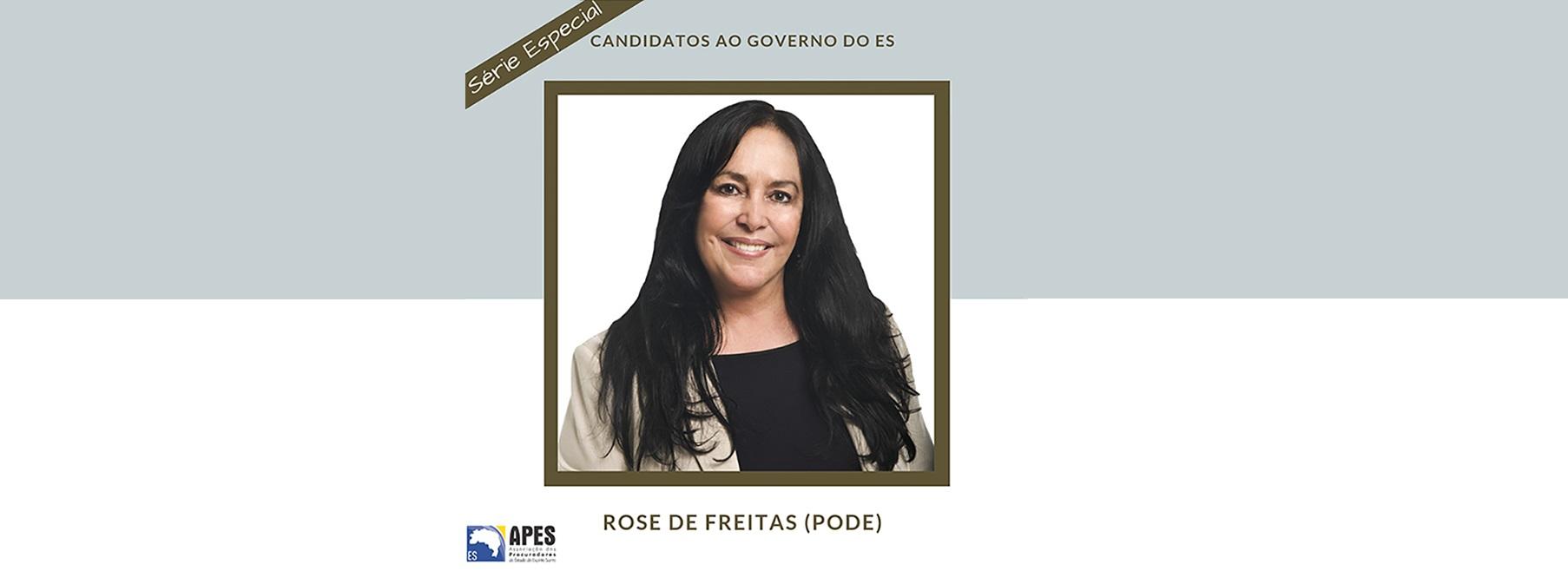 """Série """"Candidatos ao Governo do ES"""" entrevista Rose de Freitas"""