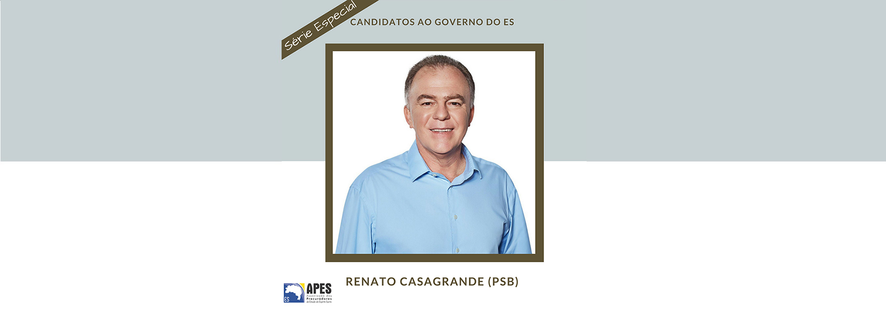 "Série ""Candidatos ao Governo do ES"" entrevista Renato Casagrande"